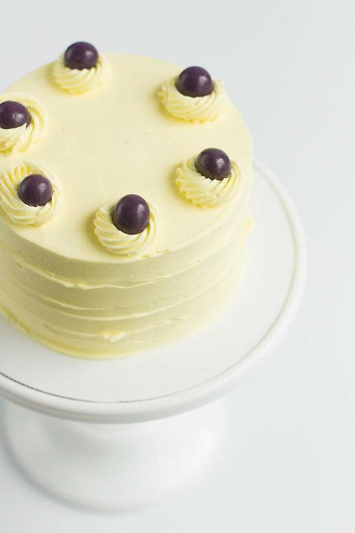 Meyer Lemon-Blueberry Snack Cake (Serves 2-3)