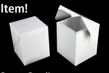 8x8x10 Large White Cake Boxes (25 Count)
