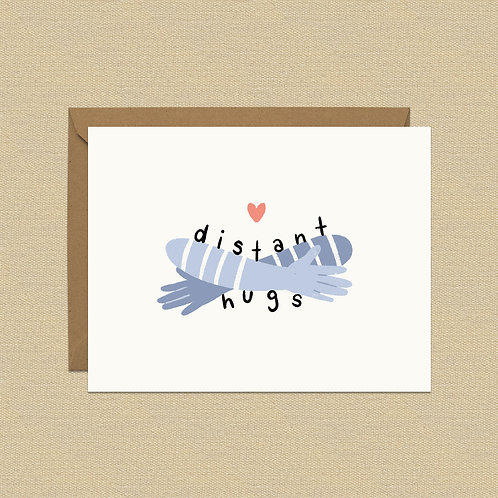 Greeting Card - Distant Hugs