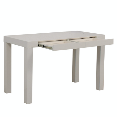 West Elm Parsons White Two-Drawer Desk
