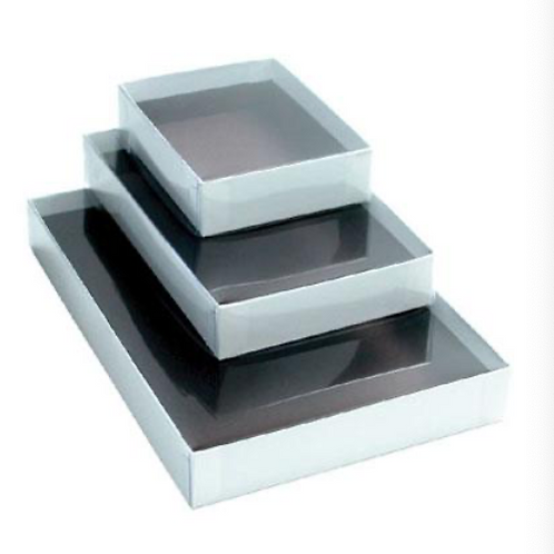 Clear Lid White 1# Box (10 Count)