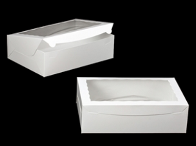 14x10x4 Large Bakery Boxes + NO Inserts (10 Count)