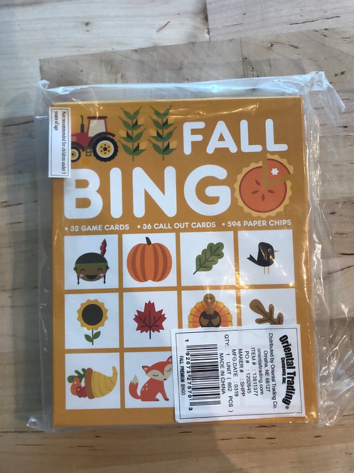 Fall Bingo - Large set for classroom