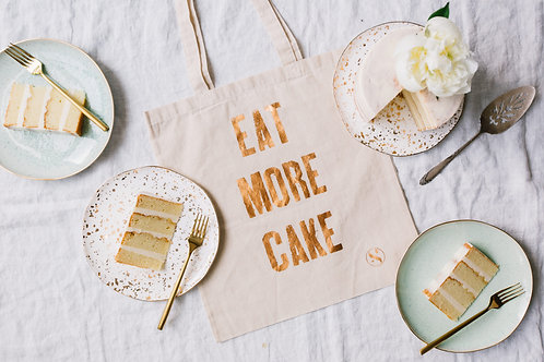 Eat More Cake Canvas Tote