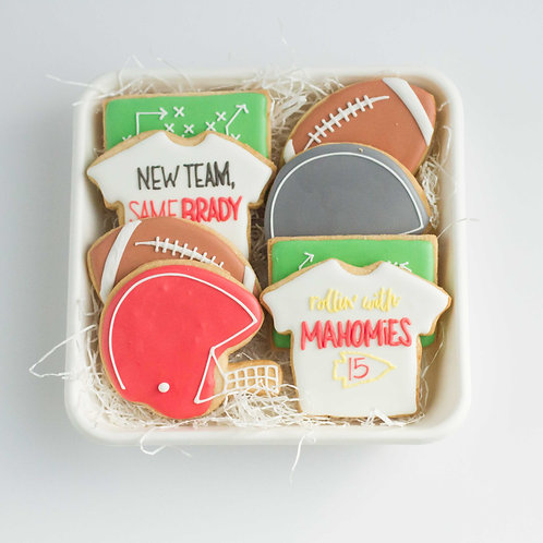 Super Bowl Cookie Plate