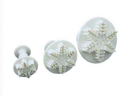 Snowflake Plunger Set of 3