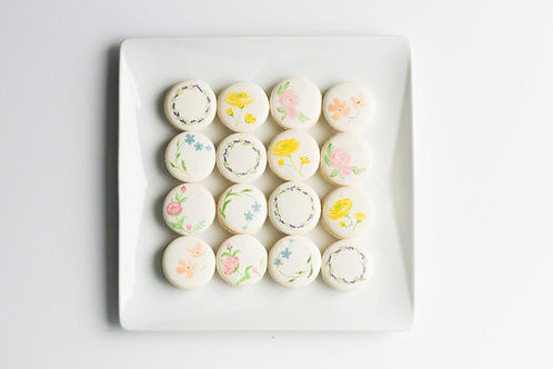 Floral-painted Macarons (Set of 6)