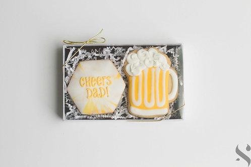 "Sugar Cookie ""Cheers Dad!"" Gift Box"
