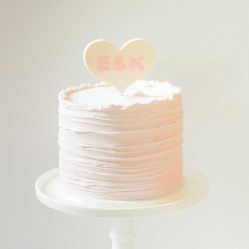 Valentine's Initials Cake