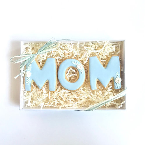 """Sugar Cookie Floral """"MOM"""" Gift Box (Set of 3)"""