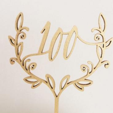 '100' Crest Cake Topper