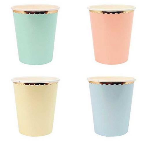 Pastel Foil Paper Cups