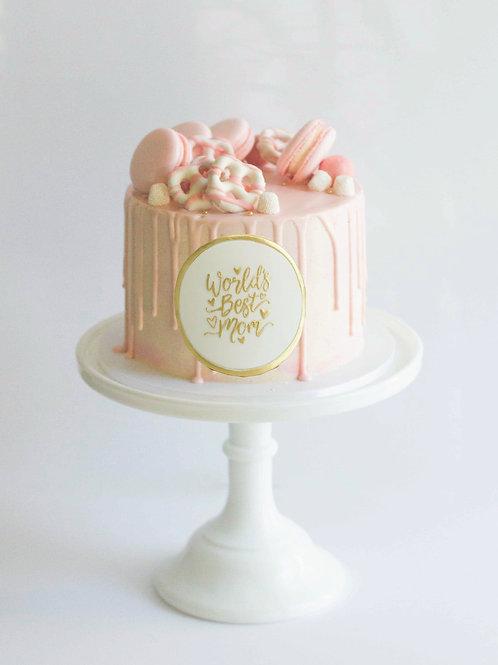 """""""Best Mom Ever"""" Cake (4"""" thru 8"""")"""