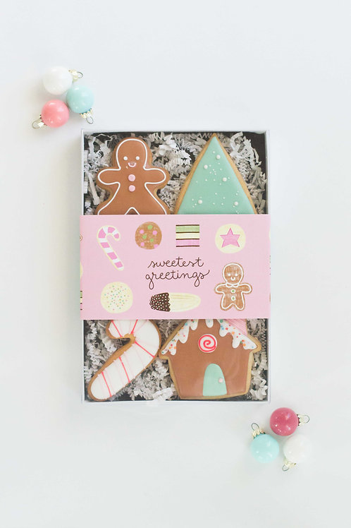 Sweetest Greetings Gift Box, Sugar Cookies (Set of 6)