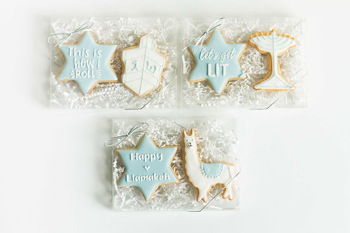 Hanukkah Pun Cookies