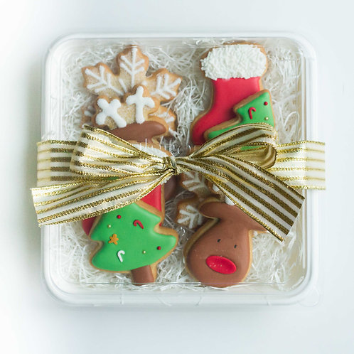 Christmas Sugar Cookie Plate (Set of 8)