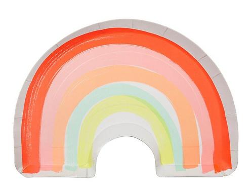 Rainbow Plates (Set of 12)