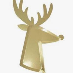 Gold Reindeer Plates