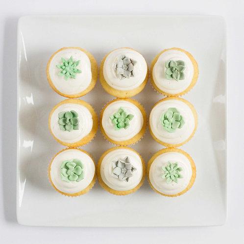 Succulent Cupcakes (Set of 4)