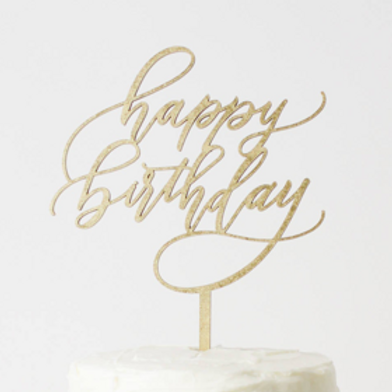 'Happy Birthday' Cake Topper