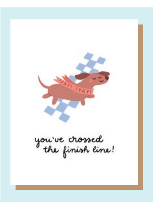 Greeting Card - Cross the Finish Line