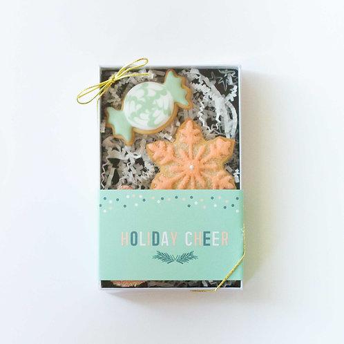 Holiday Cheer Gift Box, Sugar Cookies (Set of 3)