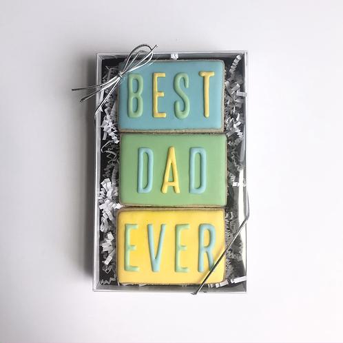 "Sugar Cookie ""Best DAD Ever"" Gift Box (Set of 3)"