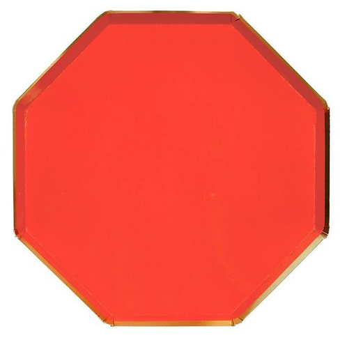 Large Red Plates