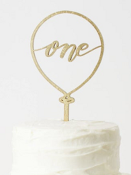 'One' Balloon Cake Topper