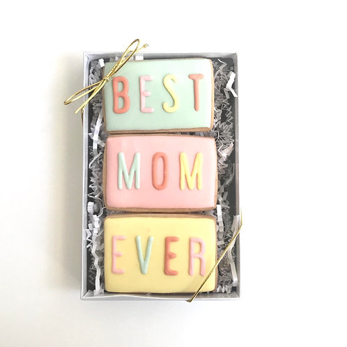 "Sugar Cookie ""Best Mom Ever"" Gift Box (Set of 3)"