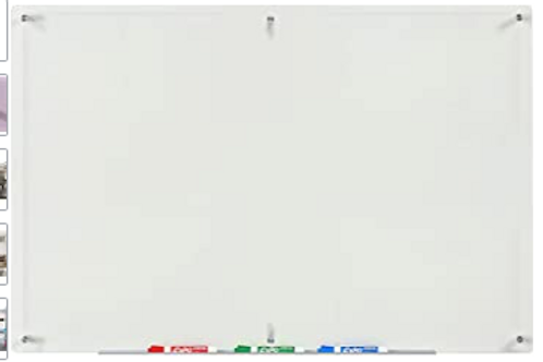 Modern Clear Glass Dry Erase Board (5' x 3.4')