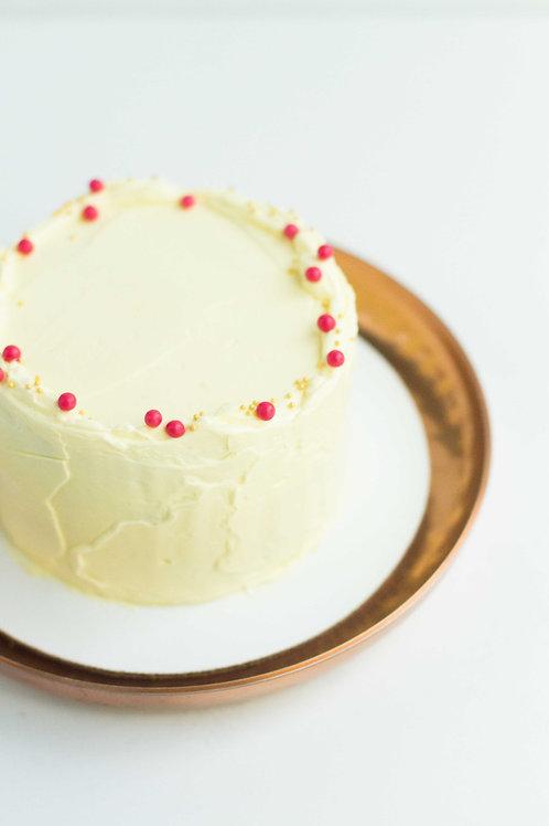 Meyer Lemon-Strawberry Snack Cake (Serves 2-3)