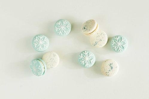 Winter Macarons (Set of 6)