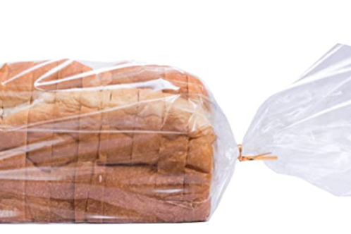 """Bread Bags 8x4x18"""" with twist-tie  (25 Count)"""