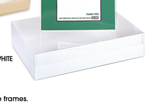 Clear Lid White 1# Box (15 Count)
