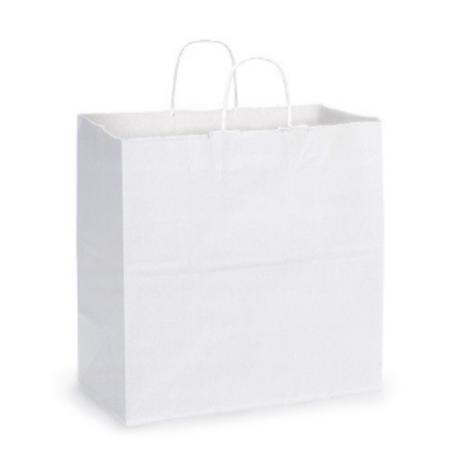 White Kraft Paper Shopping Bag 13x7x13 (10 Count)