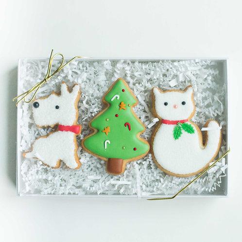 Furry Friends Sugar Cookies (Set of 3)