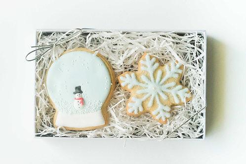 Snowglobe & Snowflake Sugar Cookies (Set of 2)
