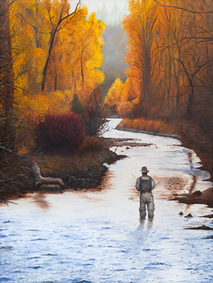 Fisherman in Fall
