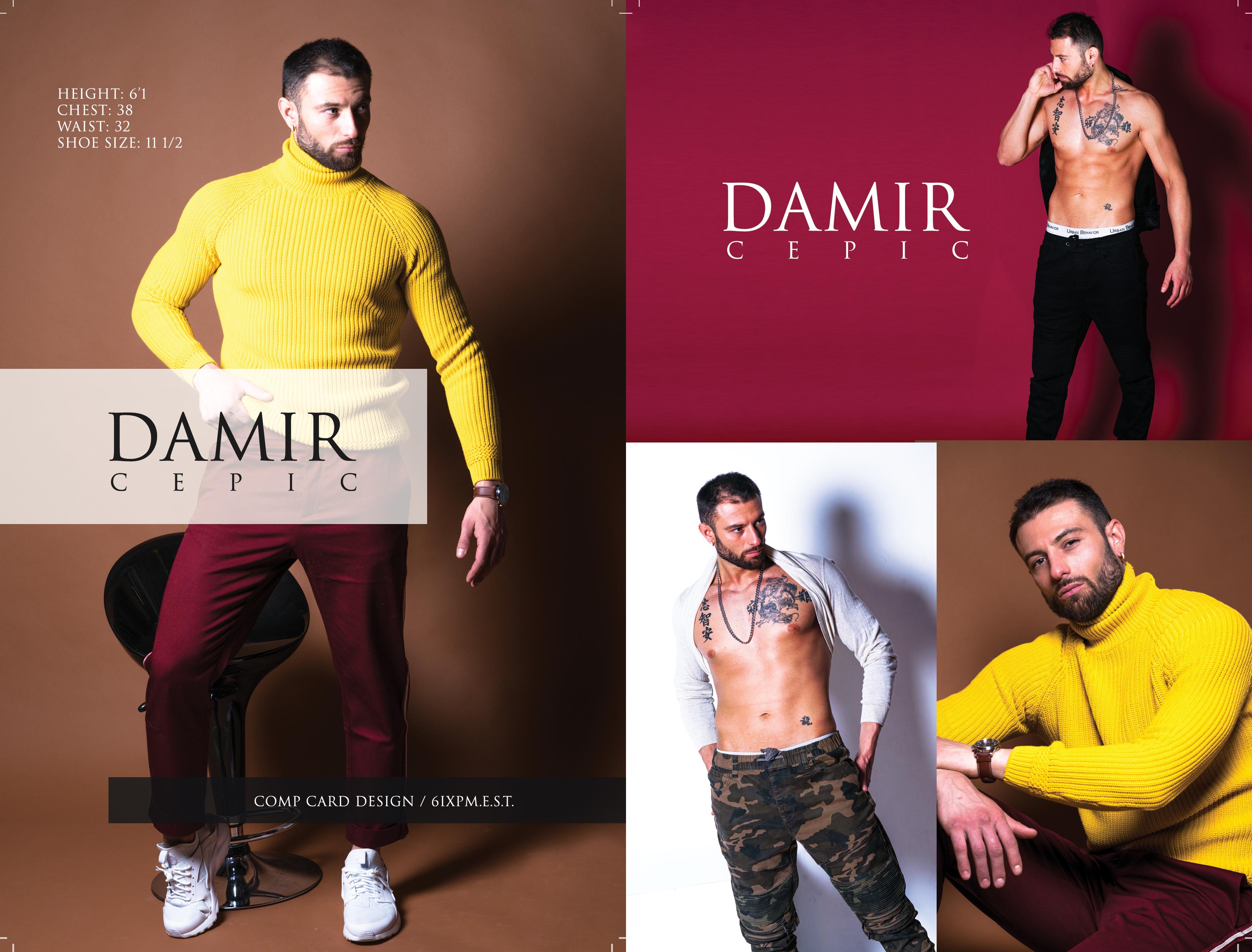 Model Comp Card : Damir