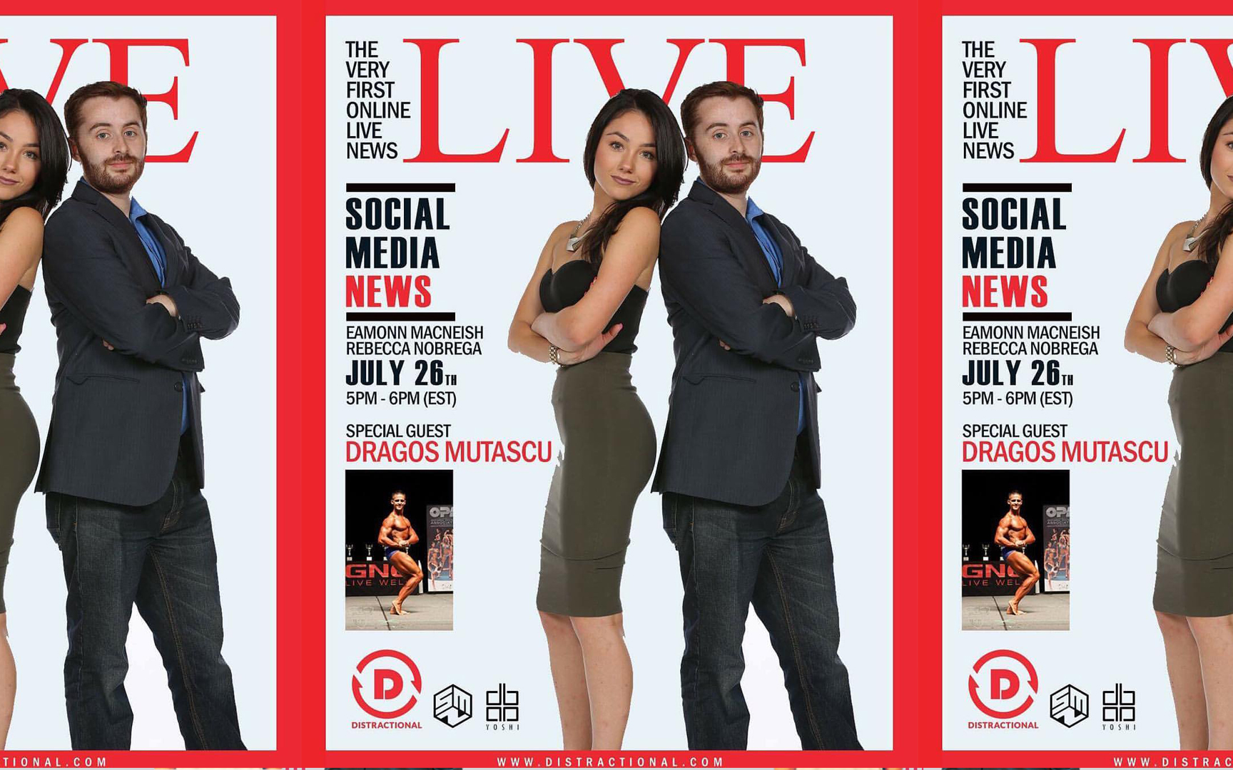 LIVE Social Media News Poster