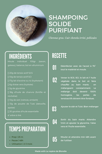 Recette DIY shampoing solide purifiant