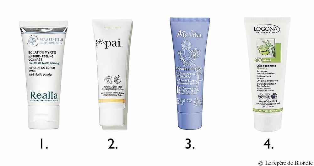 gommage/peeling peau sèche et sensible