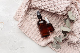 Spray and serum for hair and face on a r