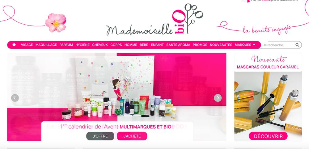 e-shop beauté et cosmétique bio. Mademoiselle bio. e-shops pour acheter ses cosmétiques bio