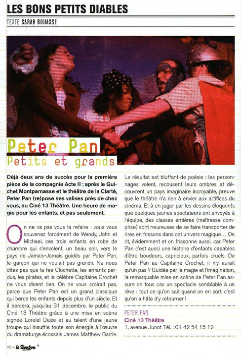 Peter Pan Article le Bonbon