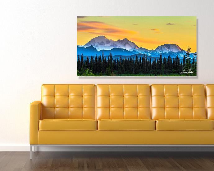 Denali Sunset Metal Wall Art