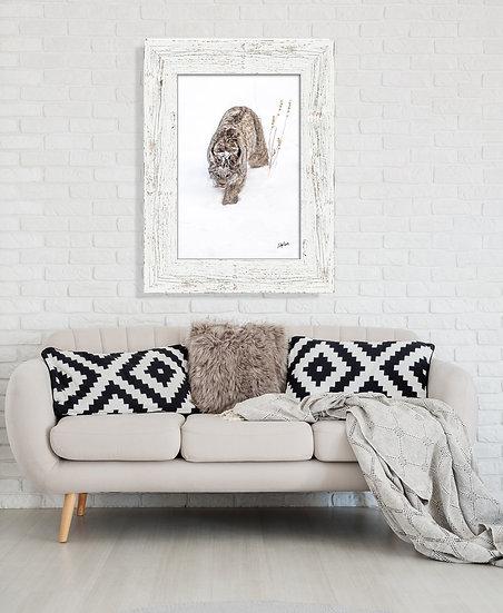 Preying Lynx Metal Wall Art