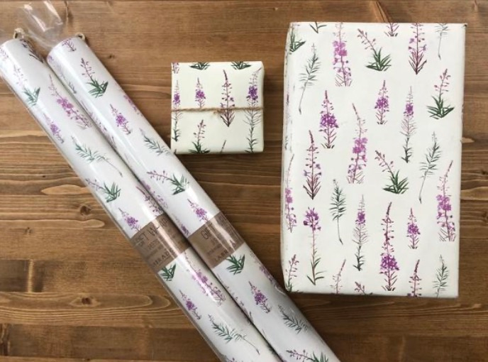 Alaska Fireweed Gift Wrap & Craft Paper