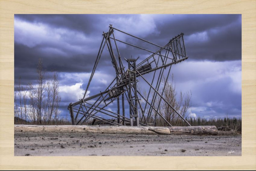 The Wise Fish Wheel Wood Art
